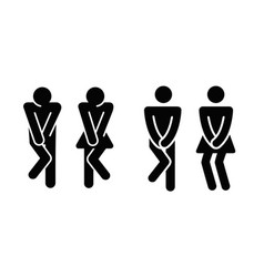 womens and mens toilet icon sign vector image