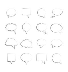 Blank Empty Speech Bubbles vector image vector image