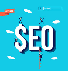 business seo internet marketing vector image vector image