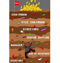 businessman and position working vector image