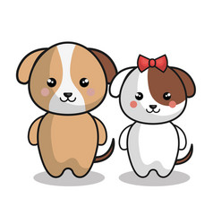 cute animals kawaii style vector image vector image
