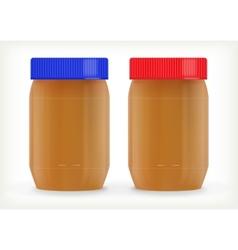 Jars of peanut butter vector image