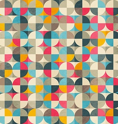 vintage circles seamless pattern vector image