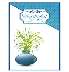 Best Wishes Postcard vector image