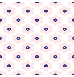 Blue and white moroccan seamless pattern vector image vector image