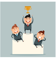 business concept about success with victory vector image vector image