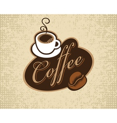 coffee cup and grain vector image vector image