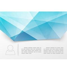 Modern blue crystal print booklet template vector image vector image