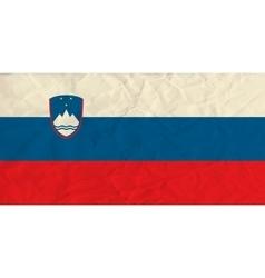 Slovenia paper flag vector