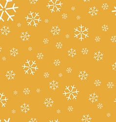 Yellow Background with snowflakes vector image