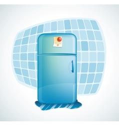 cartoon - refrigerator vector image vector image