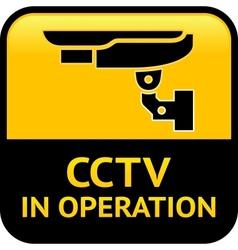 Cctv warning pictogram vector