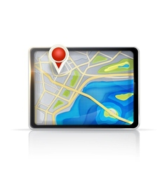 GPS map vector image vector image