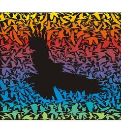 Abstract predator bird and its prey vector image vector image