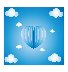 blue heart background vector image