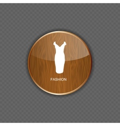 Fashion wood application icons vector image vector image