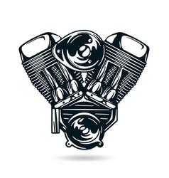 Motorcycle engine vector