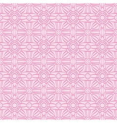 Pink background with seamless pattern vector image vector image
