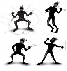 rockers vector image vector image