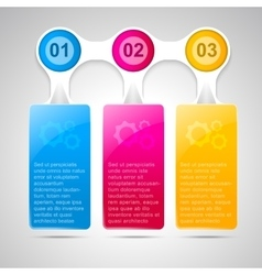 Trendy infographic template for business design vector image vector image