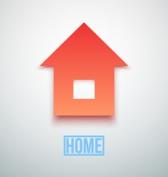 Abstract Paper Home Icon isolated vector image