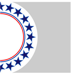 american stars ring on a grey background vector image