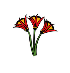 Art tattoo picture flowers vector