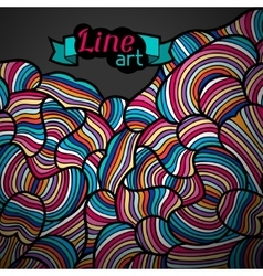 Background with hand drawn waves line art vector image