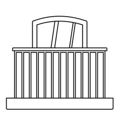 balcony with railing icon outline style vector image