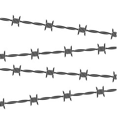 barbed wire background vector image