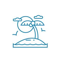 beach holidays linear icon concept beach holidays vector image