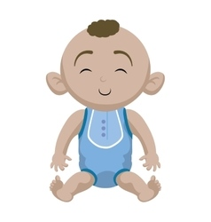 Boy cartoon icon Baby concept graphic vector image