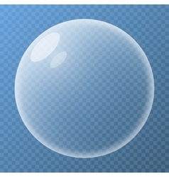 Bubble with glare vector image