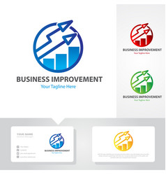 business up logo designs vector image