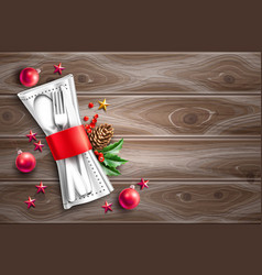 christmas holiday restauran cafe menu 3d vector image