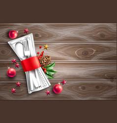 christmas holiday restaurant cafe menu 3d vector image
