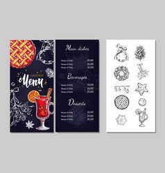 christmas winter menu 1 vector image