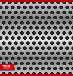Circle metal chrome texture background vector