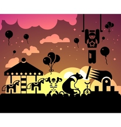Circus night background vector