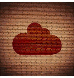 Cloud download application web icon flat design vector image