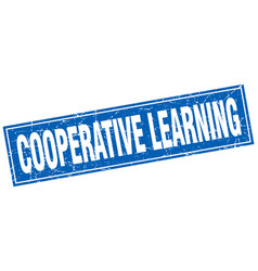 Cooperative learning square stamp vector