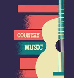Country music background with musical instrument vector