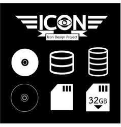 Data storage icon vector
