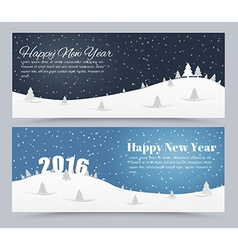 Design banner Merry Christmas and Happy New Yea vector image