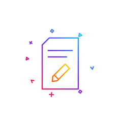edit document line icon file sign vector image