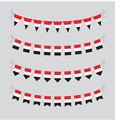 egyptian bunting vector image