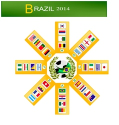 Eight Group of Soccer Tournament in Brazil 2014 vector image