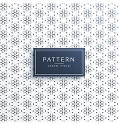elegant line flower pattern background design vector image