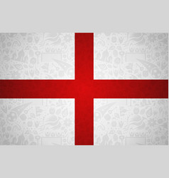 England flag background for russian soccer event vector