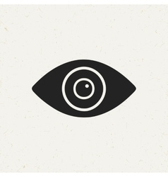 Flat Eye Icon vector